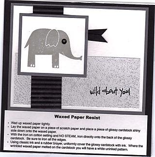 6x6 wax paper resist technique